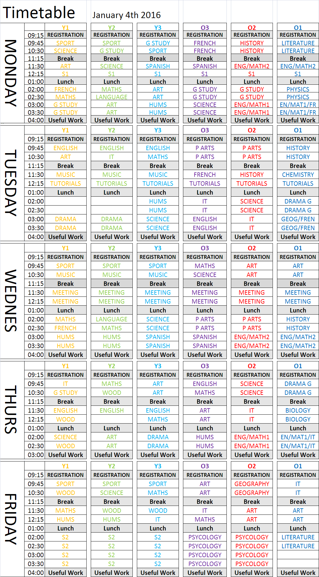 16.01.04 Timetable